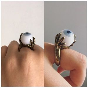 Unique Evil Eye Spinning Runway Streetwear Ring
